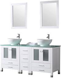 how to clean wood cabinets in bathroom bathjoy 60 white wood bathroom vanity cabinet and ceramic sink w mirror combo wash basin with faucet