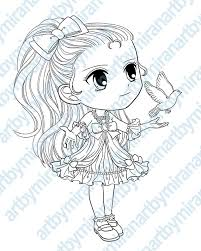 digital digi stamps big eye doll coloring page with dove