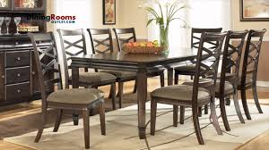 expandable dining table set dining room ashley hayley 7pc rectangular extension dining table