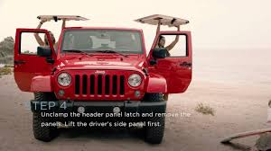 jeep renegade targa top jeep wrangler how to remove the hard top youtube