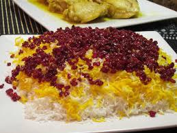 cuisine iranienne une recette venue d riz aux épines vinettes zereshk polo
