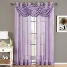Lavender Window Curtains Sheer Purple Window Scarf