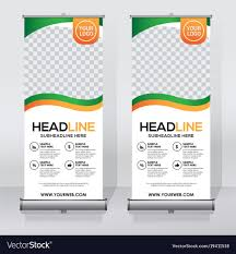 layout banner design creative roll up banner design template royalty free vector