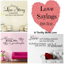 love sayings vinyl decals wall stickers