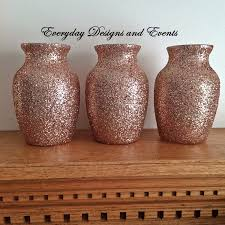Gold Centerpiece Vases 3 Rose Gold Vases Baby Shower Decors Rose Gold Rose Gold Decor