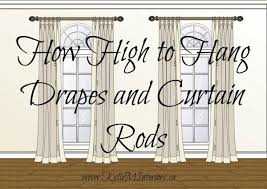 Hanging Curtains High Best 25 Hanging Drapes Ideas On Pinterest Hang Curtains How To