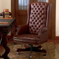 Blue Leather Executive Office Chair Office Furniture King Ranch Saddle Shop