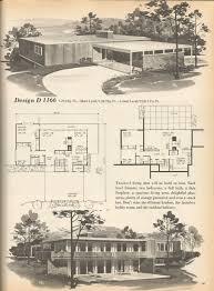 vintage house plans mid century homes dispers pinterest