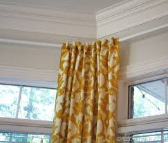 emilyaclark com how to hang curtains in a bay window ikea to the rescue
