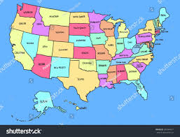 Kentucky Map Usa by Colorful Cartoon Usa Map Stock Vector 307084571 Shutterstock