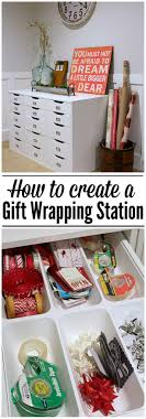 present wrapping station storage ideas and a gift wrapping station clean and scentsible