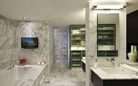 Tags Modern  Bathroom With Frameless Showerdoor High Ceiling - Bathroom modern designs