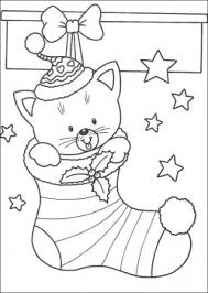 christmas cat stocking coloring christmas