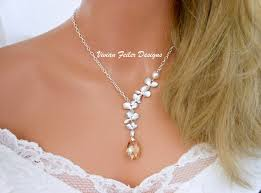 prom jewelry wedding jewelry orchid necklace pearl bridal necklace bridesmaid