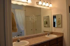 Framing Existing Bathroom Mirrors by Easy Diy Tutorial Adding Trim Around A Giant Mirror For Renters