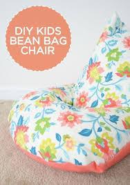 diy sew a kids bean bag chair in 30 minutes beanbag chair bean