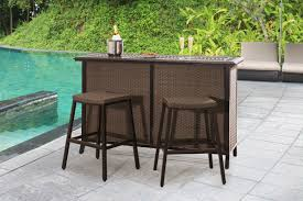 Patio Furniture Clearwater Sunjoy Clearwater Bar Set U0026 Reviews Wayfair