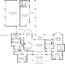Pool House Plans With Bedroom by Almost Perfect Of Course No Pool House 2 Car Garage Attached