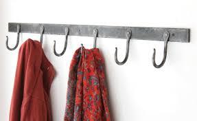 36 rustic hand forged coat hook rack blacksmith steel