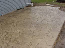Cost Of Patios by Stone Texture Awesome Stamped Concrete Patio Design With Many
