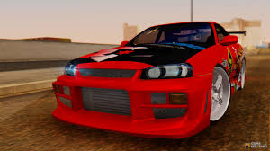 custom nissan skyline drift skyline r34 drift monkey for gta san andreas