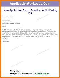 Resume Holder 9 Leave Application Format Resume Holder