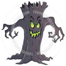 cartoon spooky tree theme image by clairev toon vectors eps 70524