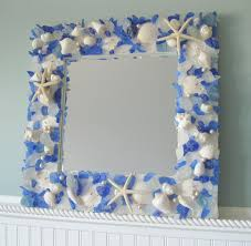 seashell mirrors for beach decor nautical shell mirrors w sea