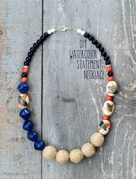 diy jewelry statement necklace images Diy watercolor statement necklace jpg