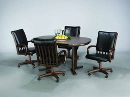 Kitchen Chairs On Wheels Swivel Catchy Kitchen Chairs With Rollers With Aw Furniture Casual Dining