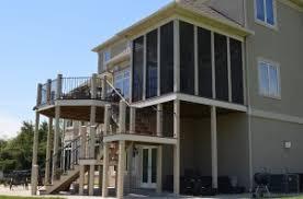 screened porch deck designs