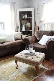 Living Room Brown Leather Sofa Furniture Layout Ideas Balance And Symmetry Couch Sofa Brown