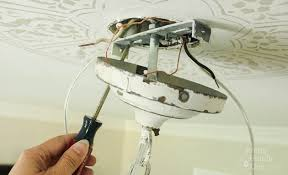 Hanging A Ceiling Light To Install A Chandelier