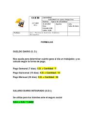 cmo calcular el salario diario integrado con sueldo apuntes nomina pdf