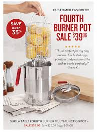 sur la table food processor sur la table today only fourth burner pot over 35 off milled