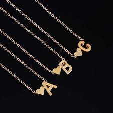 jewelry necklace letters images Iparam fashion personalized love heart letter alphabet pendant jpg