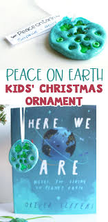 salt dough peace on earth ornaments inspired by here we are