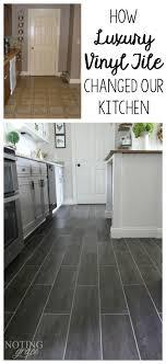 kitchen flooring groutable vinyl tile best floor for metal look