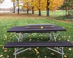 Camping Picnic Table Redwood Picnic Table Etsy
