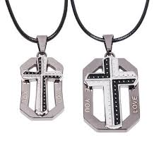 his and hers dog tags his and hers matching cross dog tag charm pendant on handmade