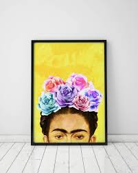 wall art prints frida kahlo print frida art print frida kahlo