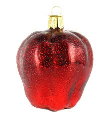 amazon com old world christmas red delicious apple glass blown