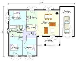 plan maison plain pied 5 chambres plan de maison plain pied gratuit 5 chambres en l 3 garage pite