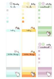 2 page monthly planner template free printable pusheen inspired planner inserts week on 2 pages pb and j studio free printable inserts pastel cats a5 divider week on