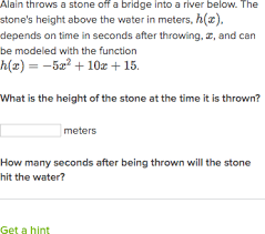 Quadratic Word Problems Worksheet With Answers Quadratic Word Problems Standard Form Practice Khan Academy