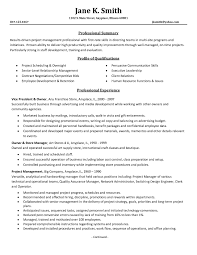 free resume templates samples professional resume template for project manager fresh program