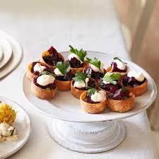 posh canapes recipes beetroot croustades recipe waitrose