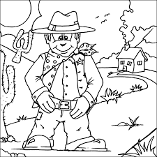 cowboy coloring pages 2094