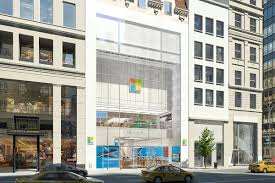 microsoft s flagship new york city store opens its doors on