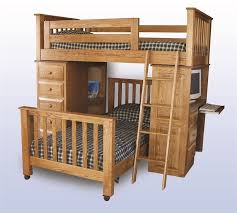 Handcrafted Solid WoodAmish Kids Beds By DutchCrafters Amish - Wooden bunk beds with drawers